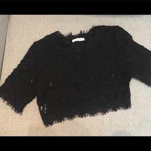 Chelsea - Black Lace Top